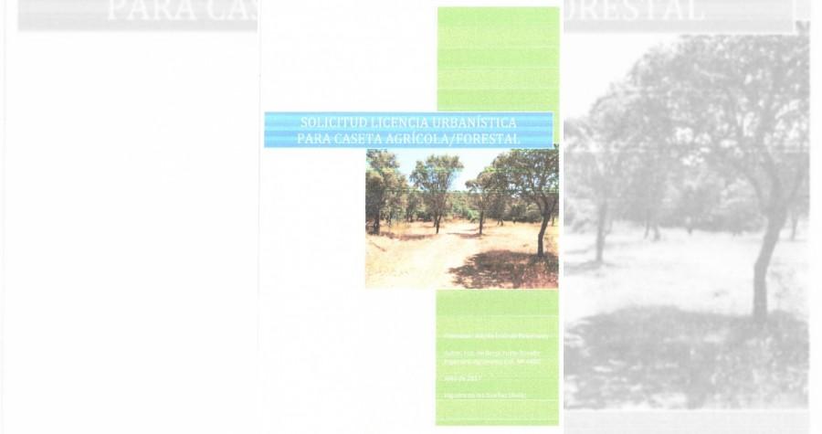 Sol lic construccion caseta agricola forestal