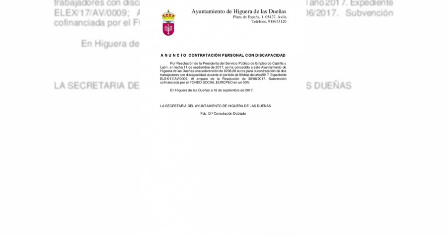 Subvencion discapacidad 2017